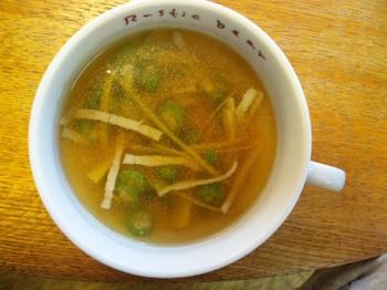 オクラとニンジンのコンソメスープ